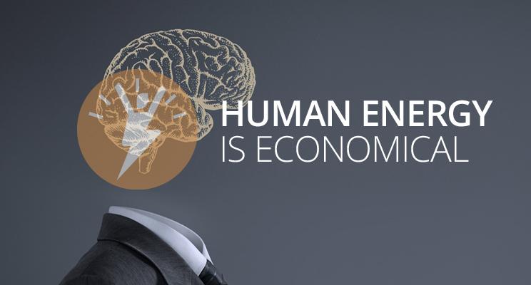 Human energy is economical